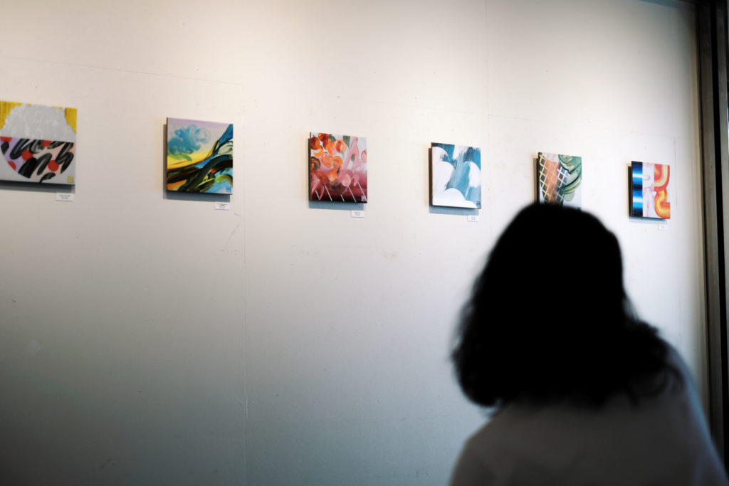 """マラルカ / Malarka / Paintress"" ceramic tile painting photographs from the solo exhibition – Art For Thought, Tokyo Ginza, Japan"
